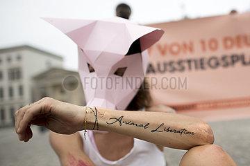 Demo gegen Tierversuche