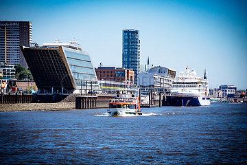Blick auf Dockland am Fischmarkt
