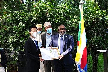 COMOROS-MORONI-PRESIDENT-CHINESE MEDICAL AID TEAM