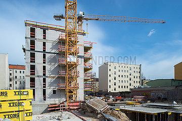 Berlin  Deutschland - Neubau eines Wohngebaeudes in der Beusselstrasse in Berlin-Mitte