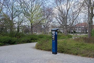 Berlin  Deutschland - Parkscheinautomat in Berlin-Mitte