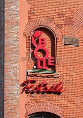 Berlin  Deutschland - Eingangsbereich der Bolle-Festsaele mit Logo