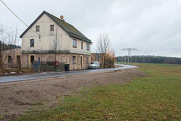 Schneeberg  Deutschland  Sachsen - Wohnbebauung im laendlichen Raum