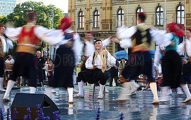 CROATIA-ZAGREB-NATIONAL THEATER-FOLK DANCE