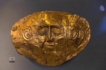 GRIECHENLAND-ATHEN-GOLD MASKEN-National Archaeological Museum