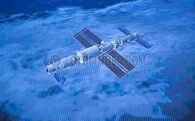 (EyesonSci) CHINA-SHENZHOU-12-TIANHE SPACE STATION-DOCKING (CN)