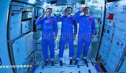 (EyesonSci) CHINA-SHENZHOU-12-TIANHE SPACE STATION-ENTERING (CN)