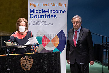 UN-GENERAL ASSEMBLY-HIGH-LEVEL MEETING-MIDDLE-INCOME COUNTRIES-DEBT RELIEF EXTENSION