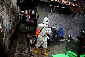 INDONESIA-JAKARTA-COVID-19-DISINFECTION