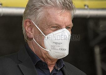 Oberbuergermeister Dieter Reiter mit FFP2 Maske  Muenchen  18. Juni 2021