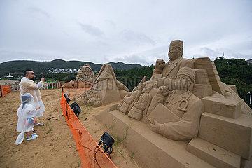 CHINA-ZHEJIANG-ZHOUSHAN-INT'L SAND SCULPTURE FESTIVAL-PREPARATION (CN)