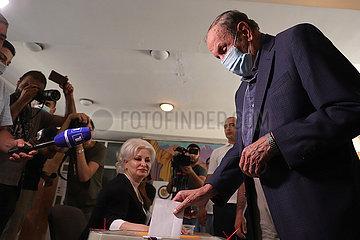 ARMENIEN-YEREVAN-Parlamentarischer ELECTION-abstimmung