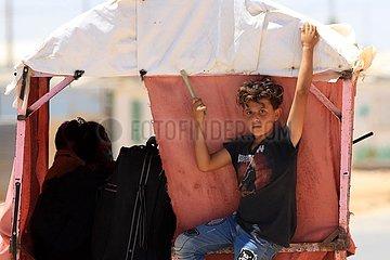 JORDAN-Zaataris CAMP-SYRIAN REFUGEE-ARTIST