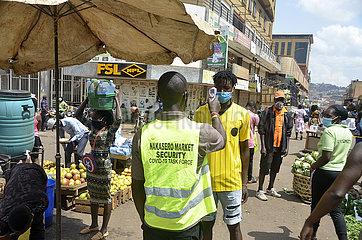 UGANDA-KAMPALA-MARKET-COVID-19-MEASURES