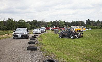 CANADA-ONTARIO-MILTON-DRIVE-THRU CAR SHOW