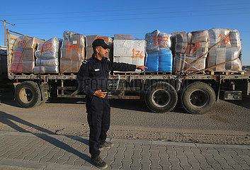 MIDEAST-GAZA-Rafah-Übergang Kerem Shalom