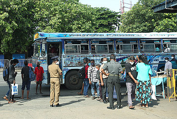 SRI LANKA-COLOMBO-TRAVEL Restriktions-Vorübergehendes Entfernen