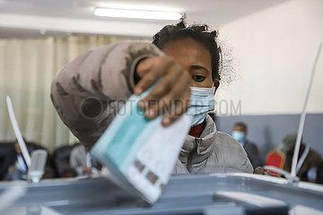 ÄTHIOPIEN-ADDIS ABEBA-ALLGEMEINE WAHLEN-VOTING