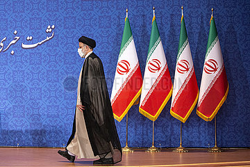 IRAN-TEHERAN-EBRAHIM RAISI-PRESSEKONFERENZ