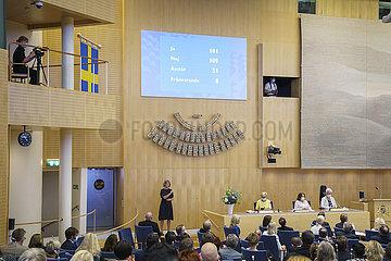 SCHWEDEN-STOCKHOLM-PM-Misstrauensvotum