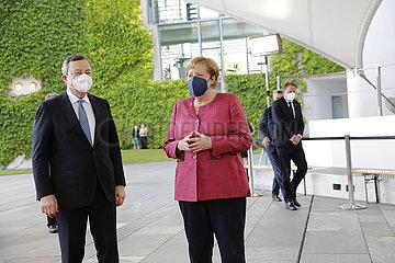 Bundeskanzleramt - Treffen Merkel Draghi