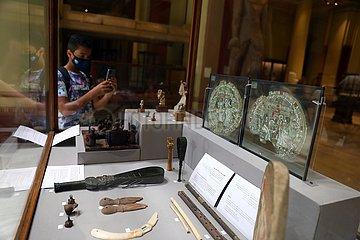 ÄGYPTEN-KAIRO-Ägyptischen Museums-MUSICAL INSTRUMENTS-AUSSTELLUNG-WORLD MUSIC DAY
