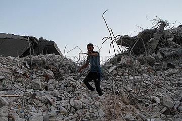 MIDEAST-GAZA-STADT-RUBBELN