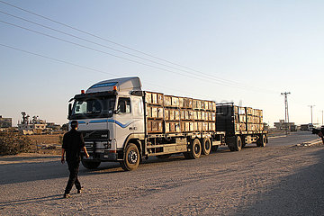 MIDEAST-GAZA-KEREM SHALOM COMMERCIAL CROSSING-REOPEN