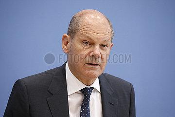 Bundespressekonferenz zum Thema: Regierungsentwurf fuer den Bundeshaushalt 2022 und den Finanzplan bis 2025