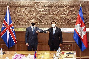 KAMBODSCHA-PHNOM PENH-britische Außenminister-MEETING