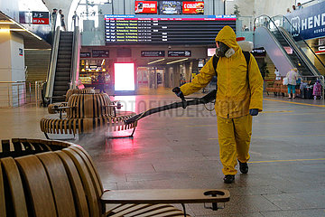 RUSSIA-MOSCOW-COVID-19-DISINFECTION