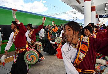 CHINA-TIBET-LHASA-Nyingchi BAHN-FUXING BULLET TRAIN-DEBUT