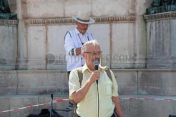 Querdenken Aktivist*innen wollen Landtag auflösen