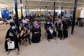JORDAN-Zaataris-Flüchtlingslager-IMPFUNG