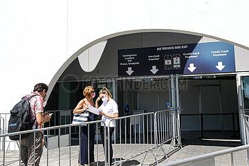 SPANIEN-BARCELONA-MWC 2021-VORBEREITUNG