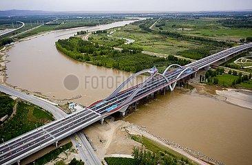 CHINA-NINGXIA-Zhongwei-YELLOW RIVER BRIDGE-OPERATION (CN)