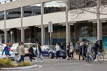 AUSTRALIEN-CANBERRA-COVID-19-MASK-Zwangsmaßnahme