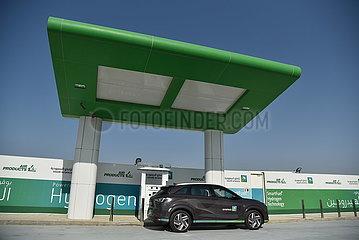 SAUDI-ARABIEN-DHAHRAN-ARAMCO-Wasserstoff-Fahrzeuge SAUDI-ARABIEN-DHAHRAN-ARAMCO-Wasserstoff-Fahrzeuge