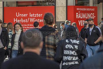 Geschaeftsaufgabe in der Muenchener Innenstadt  31.10.2020