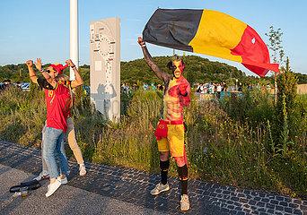 Italien vs Belgien Euro 2020: Fans reisen an