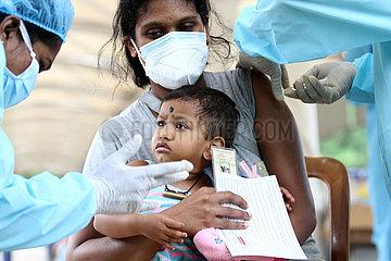 SRI LANKA-COLOMBO-COVID-19-WALK-IN Impfstellen-OPENING