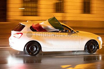 München: Autokorso nach Italiens Sieg über Spanien