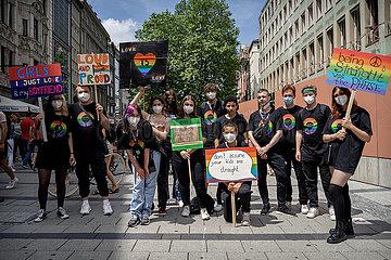 Christopher Street Day 2021 in München