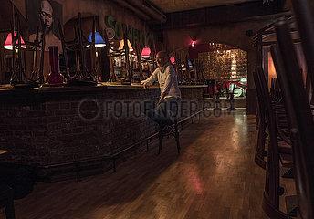 die geschlossene Jazzbar Vogler  Inhaber Thomas Vogler  Muenchen  Juli 2021