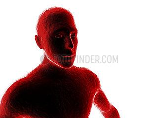 CGI Visualisierung: Mensch  Mann