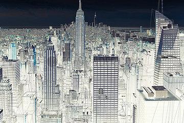 CGI Visualisierung: Manhattan  New York City