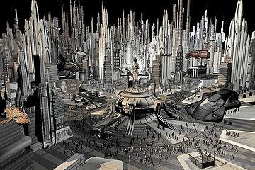 CGI Visualisierung: Stadt der Zukunft