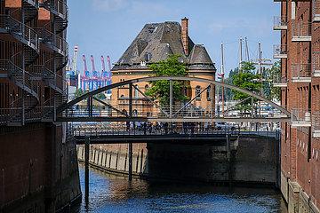 Lagerhaeuser in der Speicherstadt  Hamburg  Deutschland  Europa