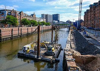 Sanierung  Speicherstadt  Hamburg  Deutschland  Europa
