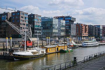 Wohnen und arbeiten in der Hafencity  Hamburg  Deutschland  Europa